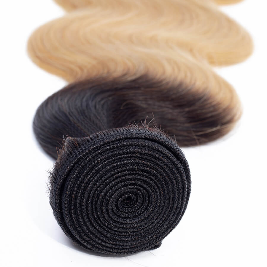 Msbeauty Brazilian Body Wave Ombre T`1B/27 Honey Blonde Beyonce Hair Color - MSBEAUTY HAIR