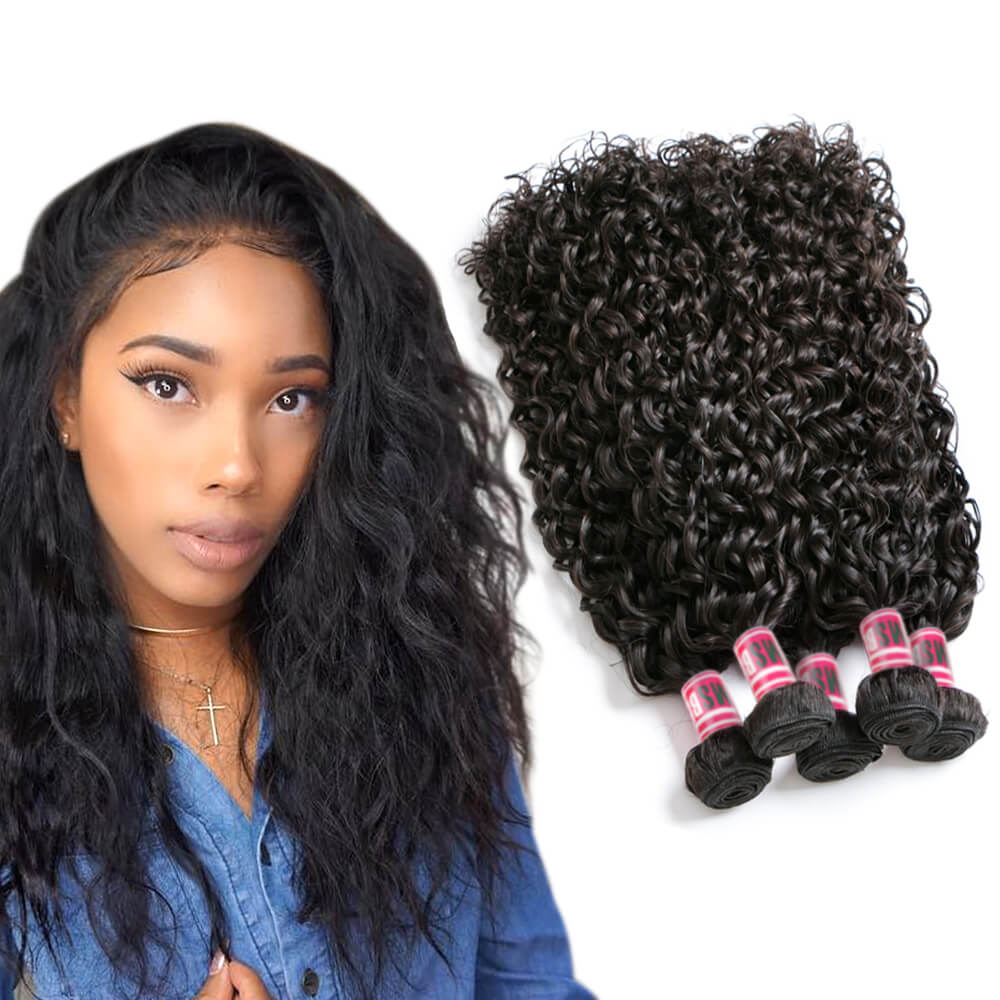 Msbeauty Water Wave Brazilian Unprocessed 4 Pcs/Pack Bundles Deals New Curly Hair Weaves - MSBEAUTY HAIR