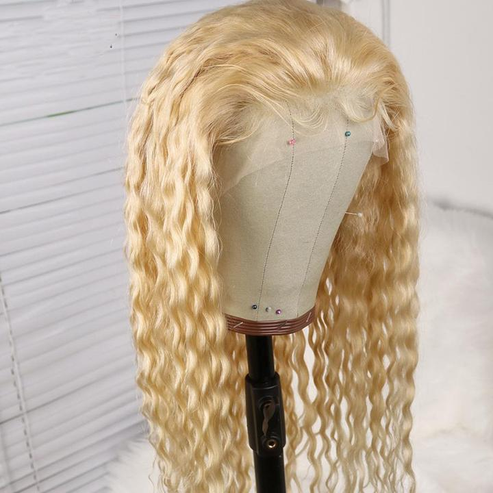 Msbeauty Lace Front 10A Blonde Curly Human Hair Wig - MSBEAUTY HAIR