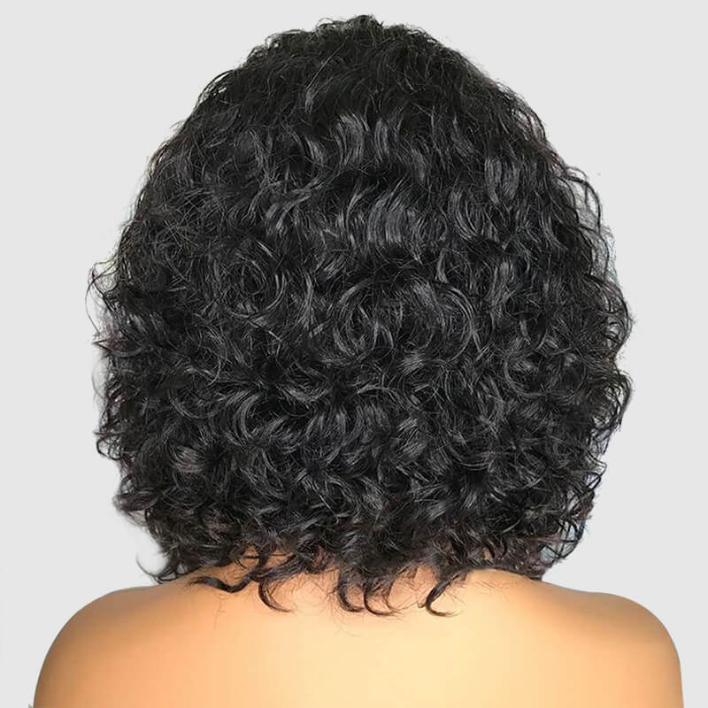 Msbeauty 13*6 Lace Frontal Short CurlyWig Pre Plucked Natural Hair Line - MSBEAUTY HAIR