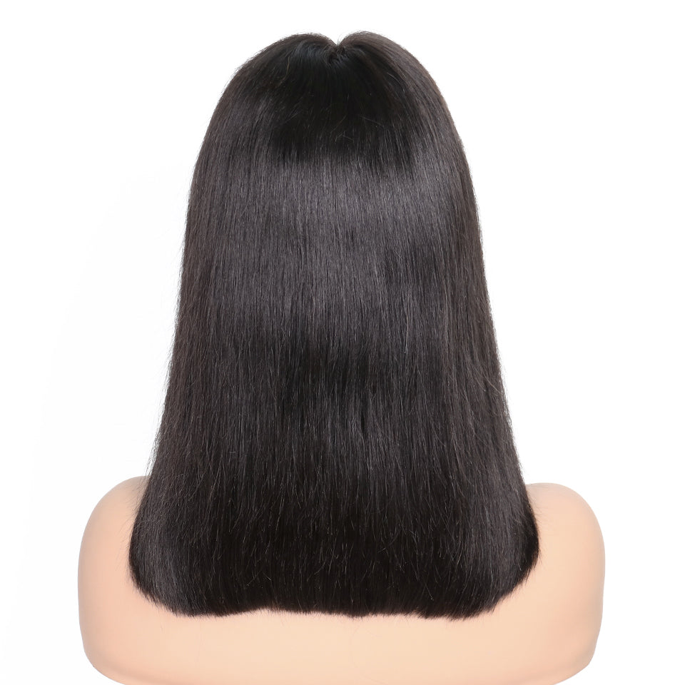 Msbeauty Human Hair Lace Front Bob Straight Short Hair Style - MSBEAUTY HAIR