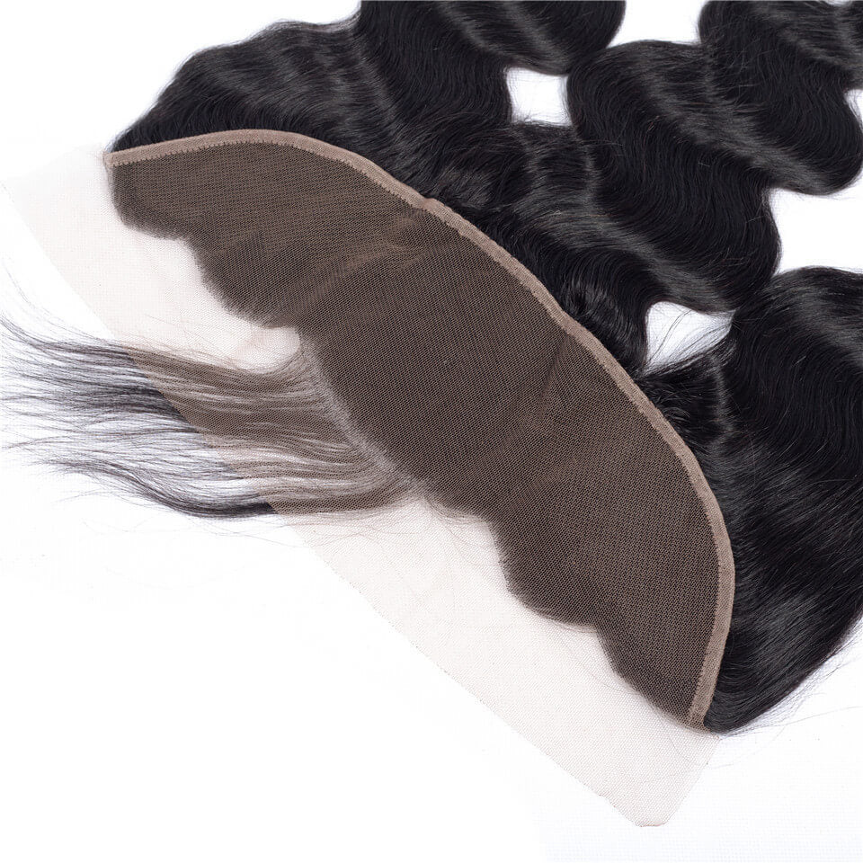 Msbeauty Ear to Ear 13x4 100% Unprocessed Remy Hair Body Wave Lace Closure Frontal - MSBEAUTY HAIR