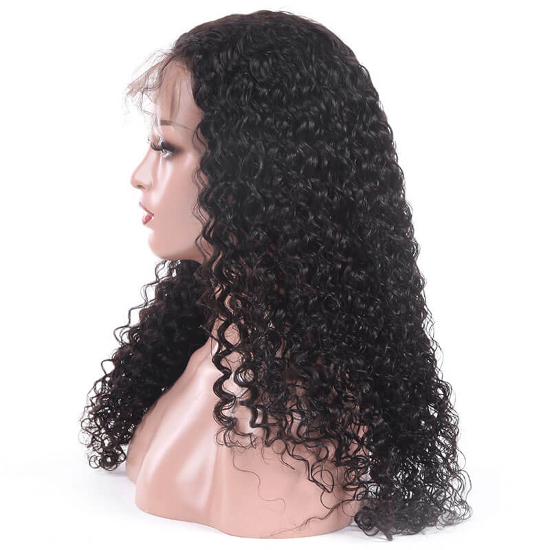 Msbeauty Top Grade 200% Density 13x6 Lace Front Jerry Curl Human Hair Wig - MSBEAUTY HAIR