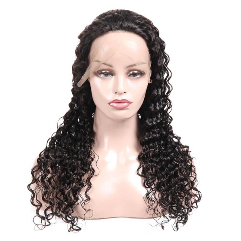 Msbeauty Pre Plucked 13x6 Lace Front Deep Wave Virgin Human Hair Wig - MSBEAUTY HAIR