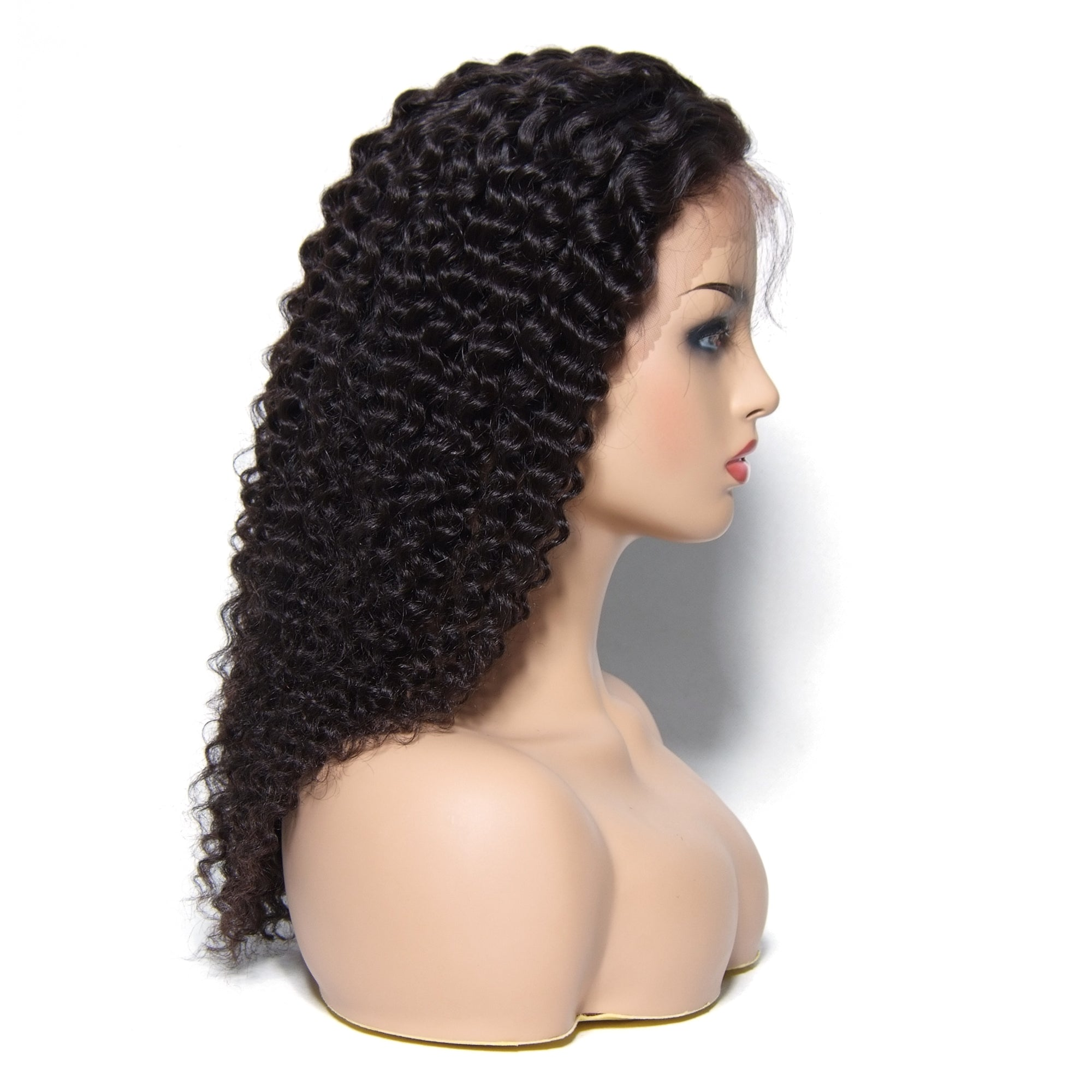 Msbeauty 180% Density Natural Hair Line Long Jerry Curl Lace Frontal Wig For Woman - MSBEAUTY HAIR