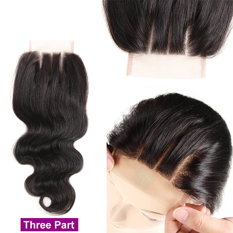 Msbeauty 10A Virgin Human Hair 4x4 Lace Closure Baby Hair Natural Color - MSBEAUTY HAIR