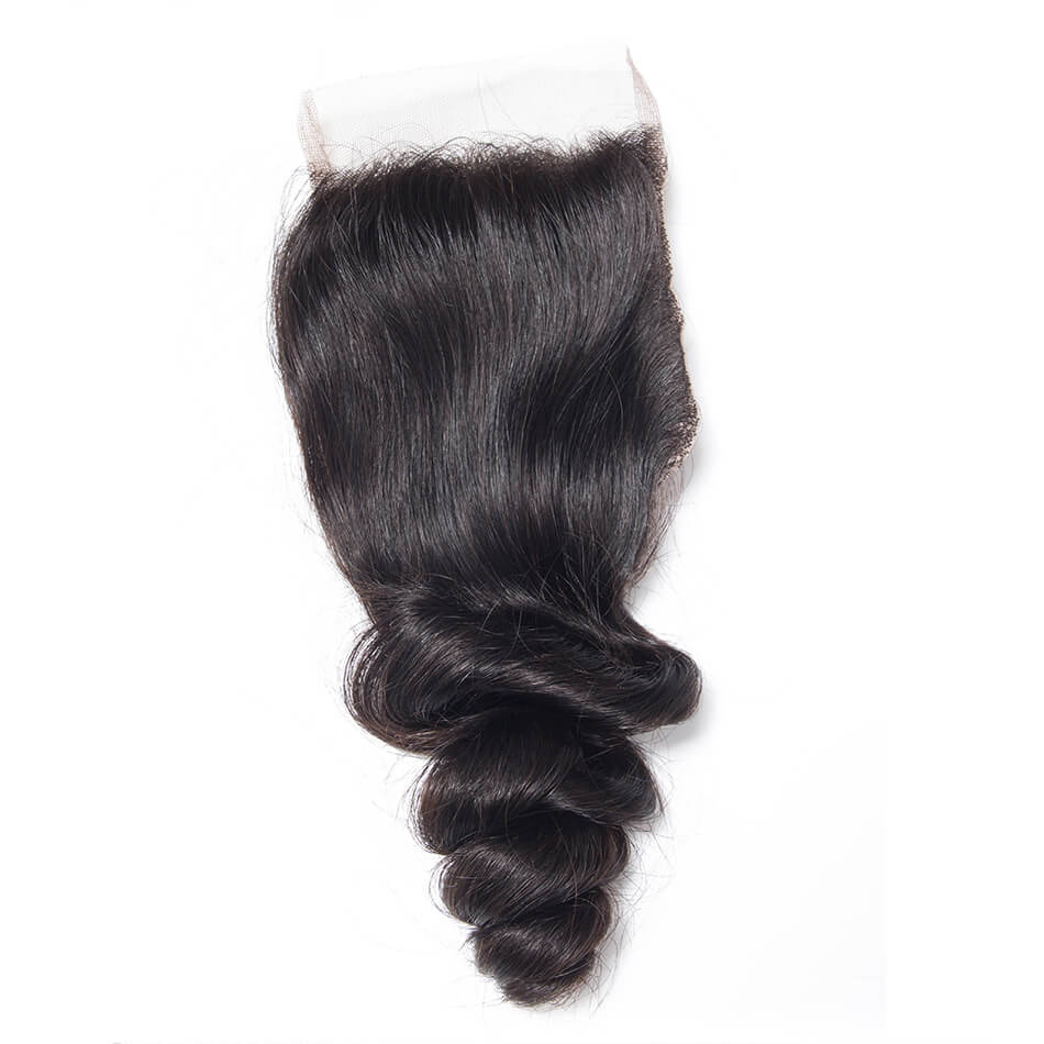 Msbeauty Brazilian 10A 4X4 Loose Wave Lace Closure Bleached Knots - MSBEAUTY HAIR
