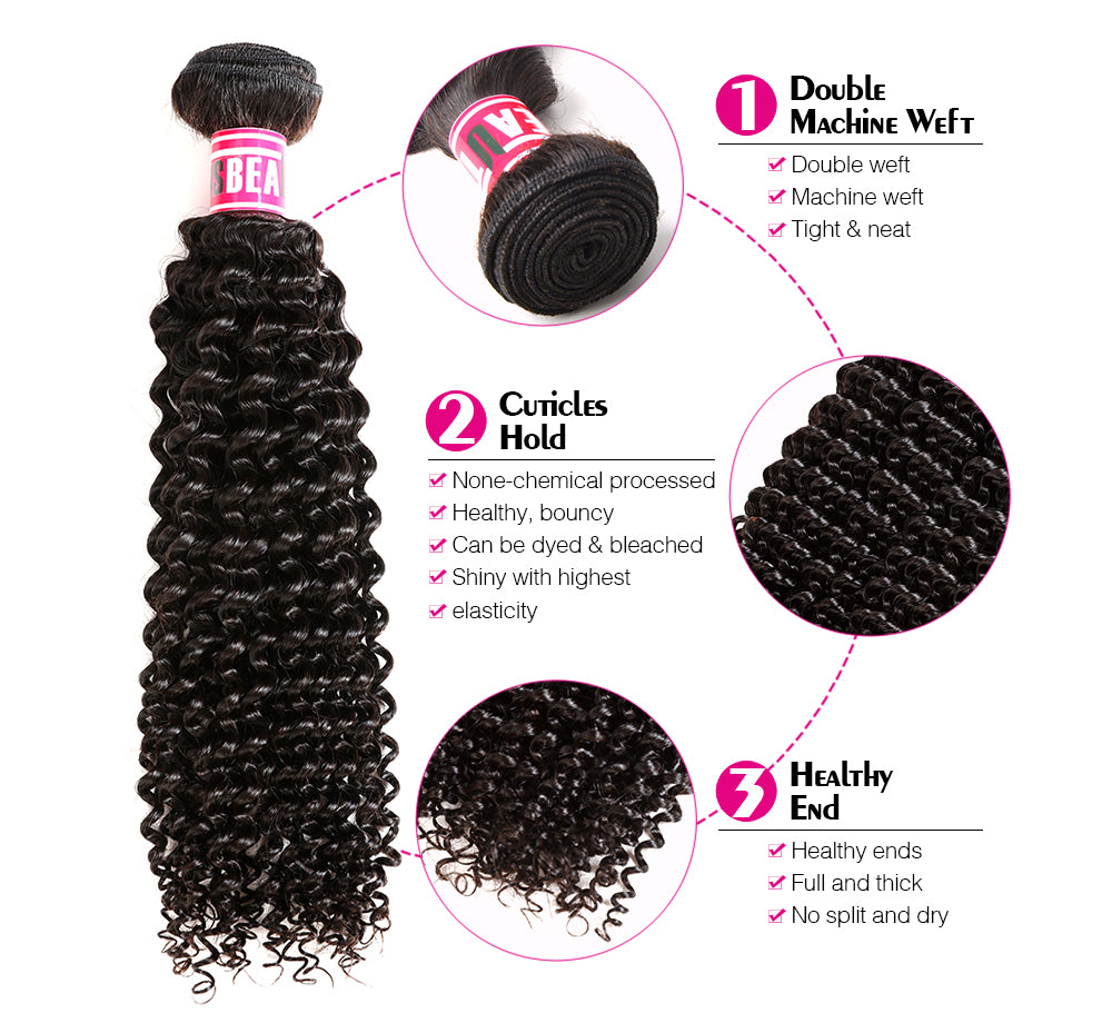 "Msbeauty Malaysian One Bundle Virgin Human Hair Weave 100% Unprocessed Human Hair 8""-28"" - MSBEAUTY HAIR"