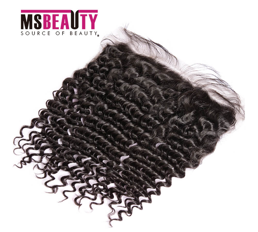 Msbeauty 10A Brazilian Unprocessed 13x4 Lace Frontal Closure Jerry Curl Hair - MSBEAUTY HAIR