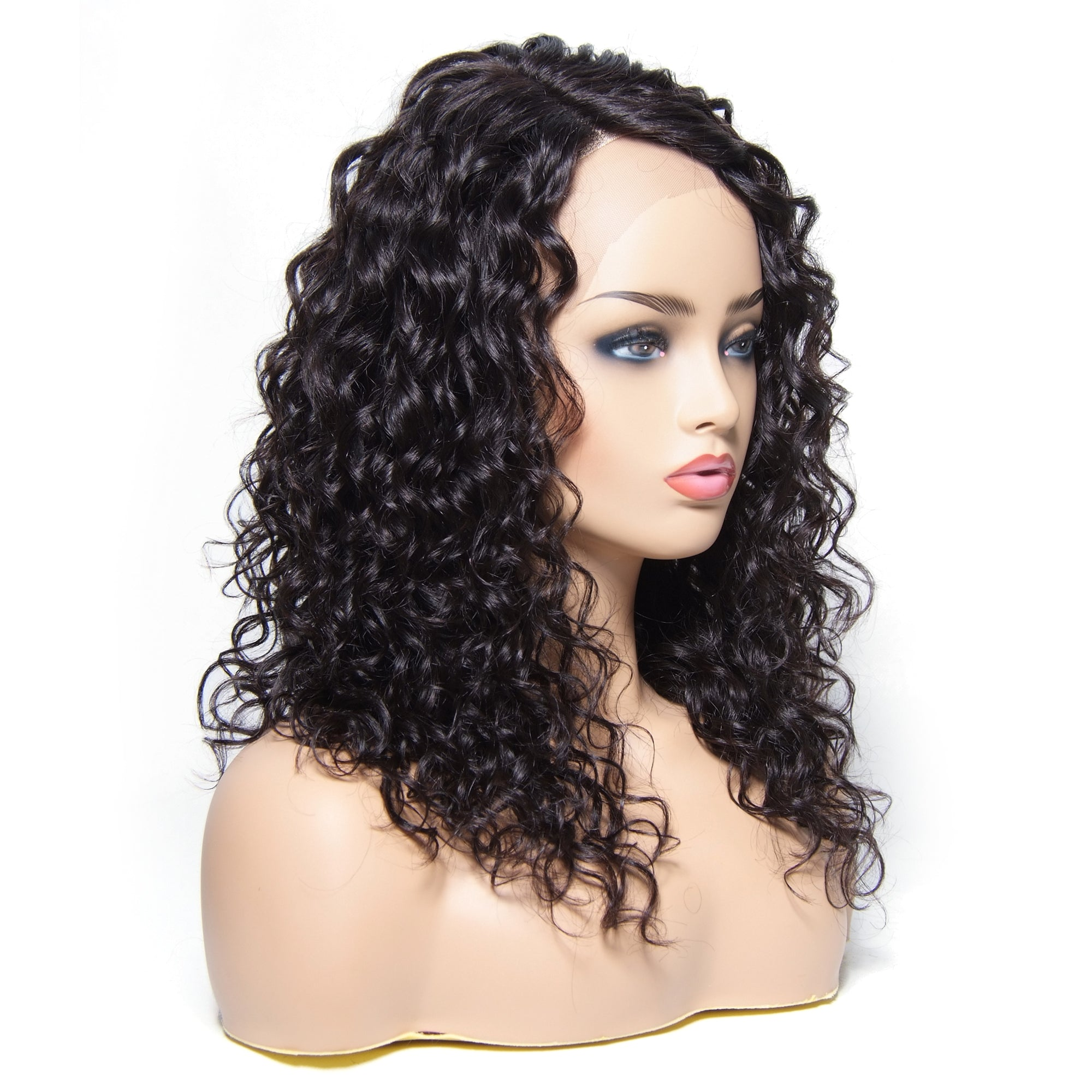 Water Wave Lace Front Human Hair Wig Free Part With Baby Hair For Woman - MSBEAUTY HAIR