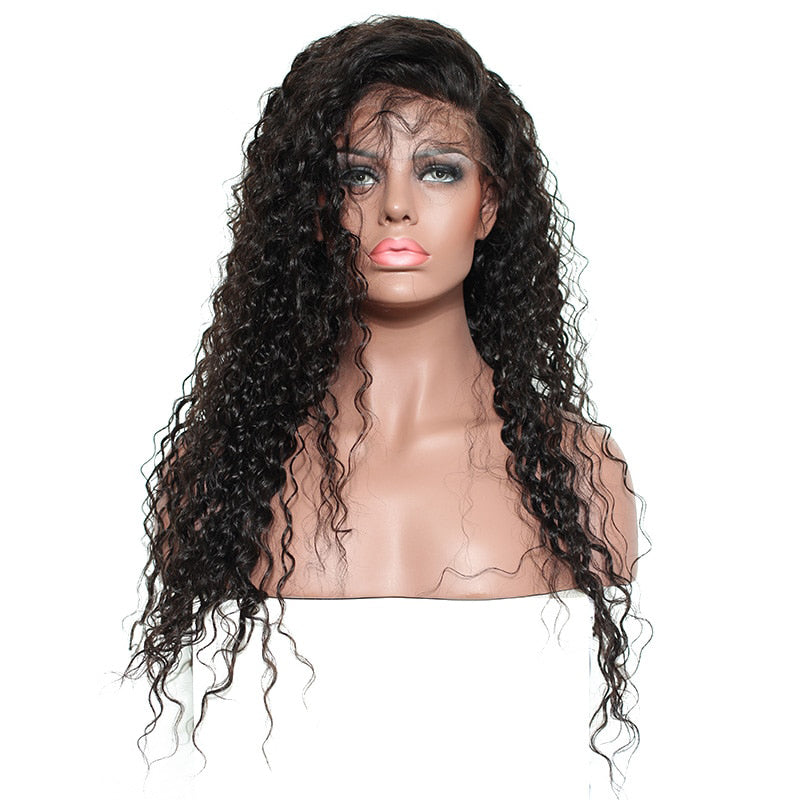 Msbeauty Brazilian Virgin Human Hair 360 Lace Frontal Human Hair Curly Wigs - MSBEAUTY HAIR