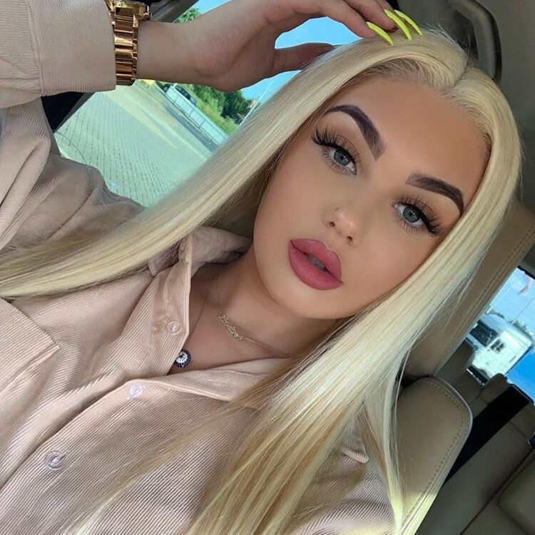Msbeauty Pure Virgin Top 613 Blonde Lace Front 160% Density Straight Instagram Best Seller - MSBEAUTY HAIR