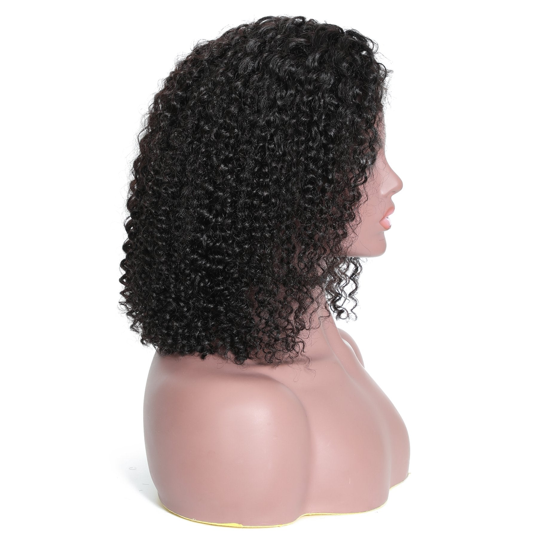 Msbeauty Short Curly Lace Front Human Hair Wig - MSBEAUTY HAIR