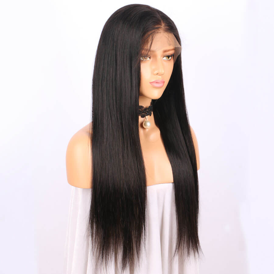 Msbeauty Lace Front Straight Wig Human Hair With Baby Hair Pre Pluckked - MSBEAUTY HAIR