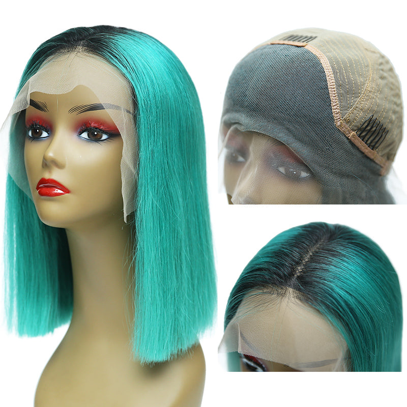 Msbeauty Turquoise Green Lace Front Bob Wig 2019 Summer Best Seller Hair - MSBEAUTY HAIR