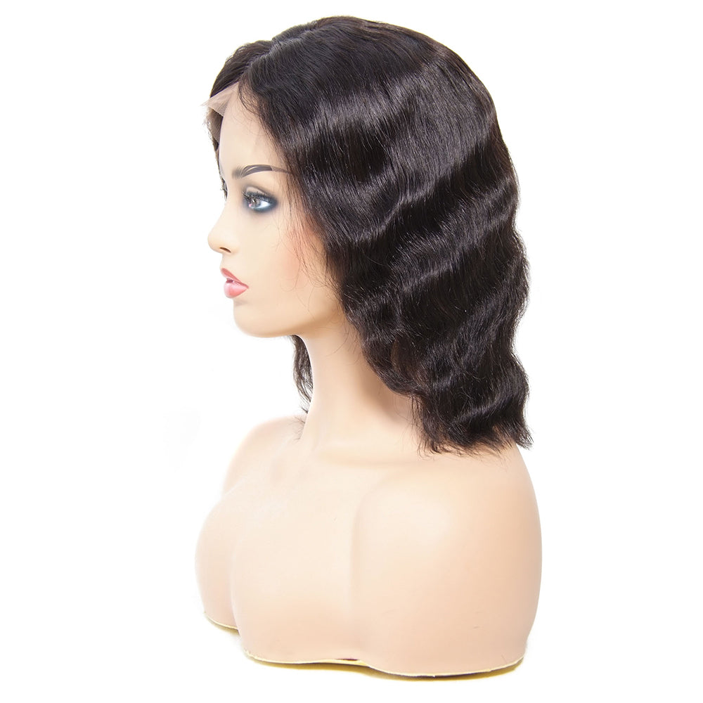 Best Quality 180% Density Bob Wavy Lace Front Wigs - MSBEAUTY HAIR