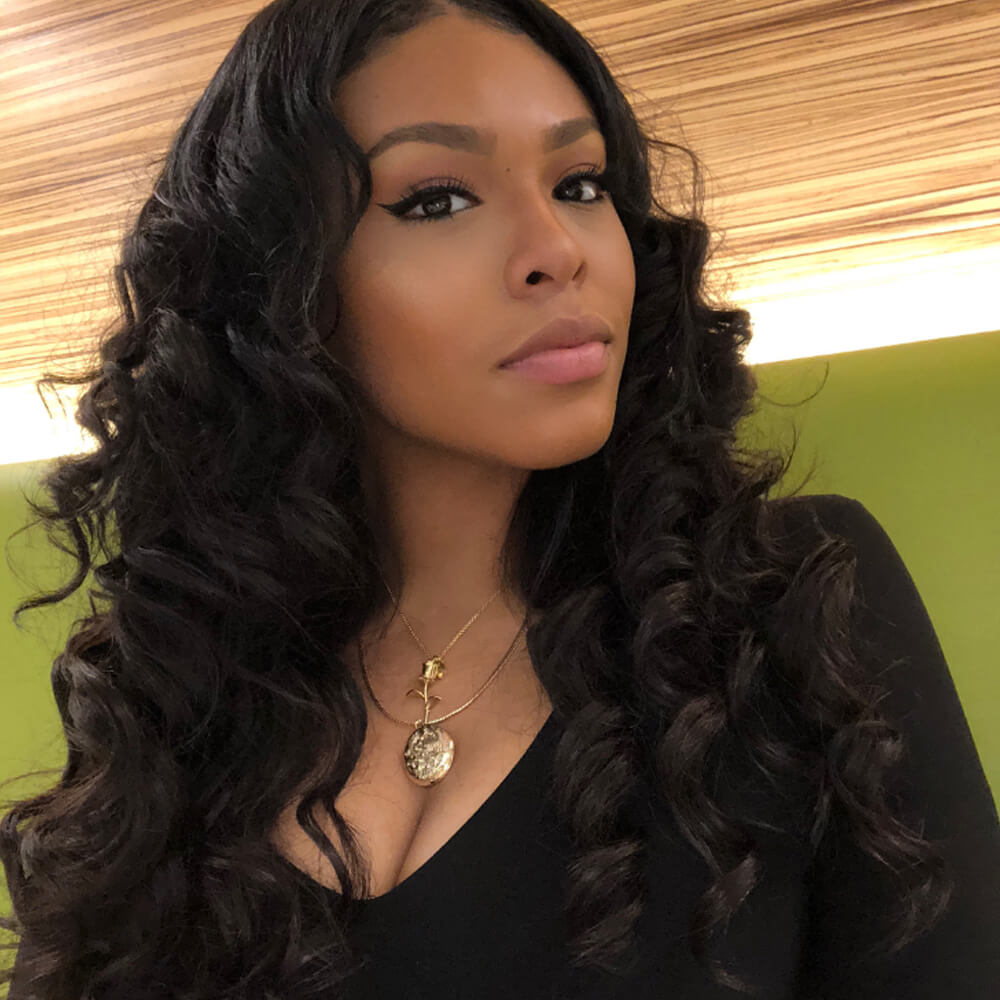 Msbeauty Wavy Lace Front Loose Wave Human Hair Wig - MSBEAUTY HAIR