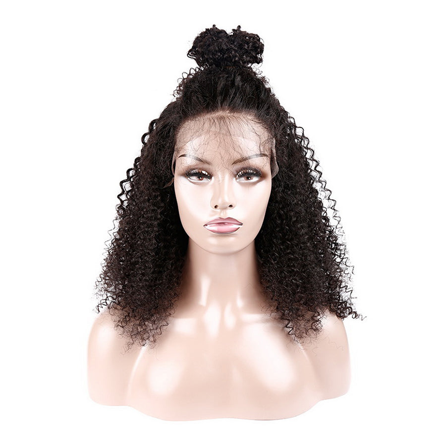 Msbeauty 180% Density Short Lace Front Curly Baby Hair Pre Plucked Human Hair Wig - MSBEAUTY HAIR