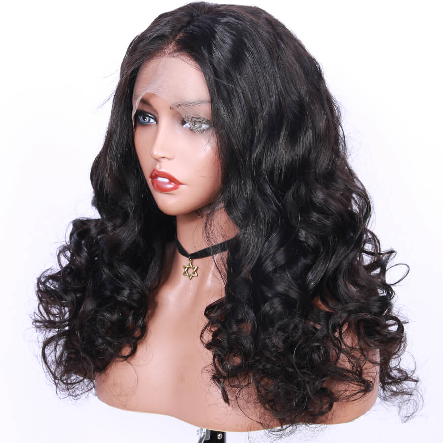 Msbeauty Loose Wave Full Lace Human Hair Long Wavy Trendy 2019 Fashion Wig - MSBEAUTY HAIR