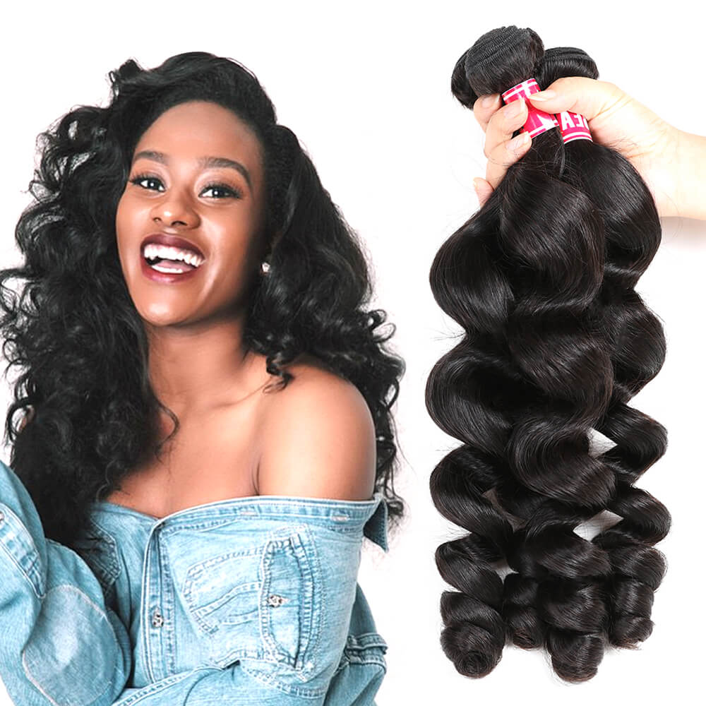 Msbeauty 3 Pcs Loose Wave Brazilian Unprocessed Human Hair Bundles Free Shipping - MSBEAUTY HAIR