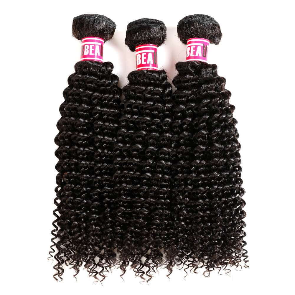 Msbeauty Kinky Curly Peruvian 8A Unprocessed Remy Hair Bundles - MSBEAUTY HAIR