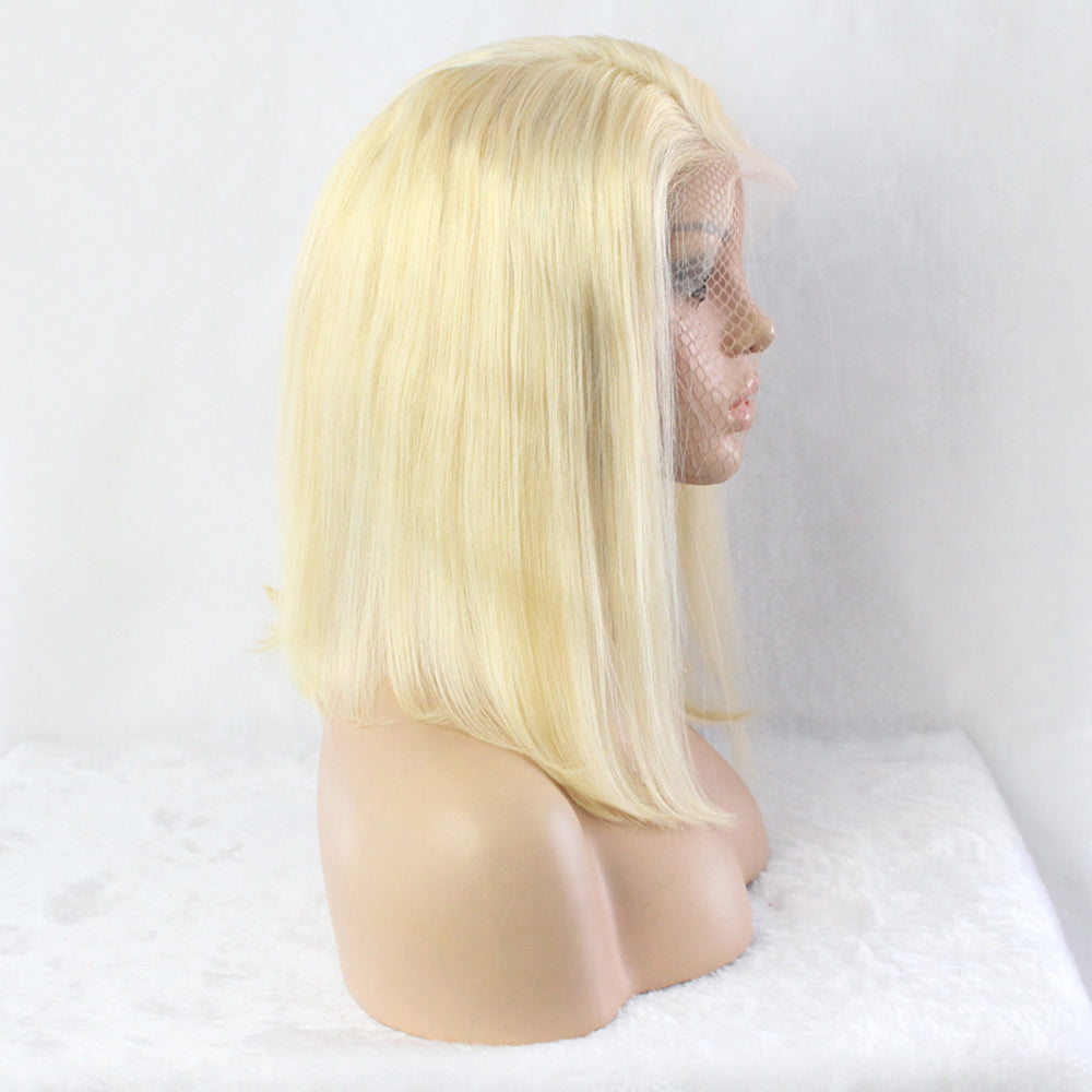 Msbeauty Short Blonde Wigs 100% Human Hair 613 Bob Short Wig - MSBEAUTY HAIR