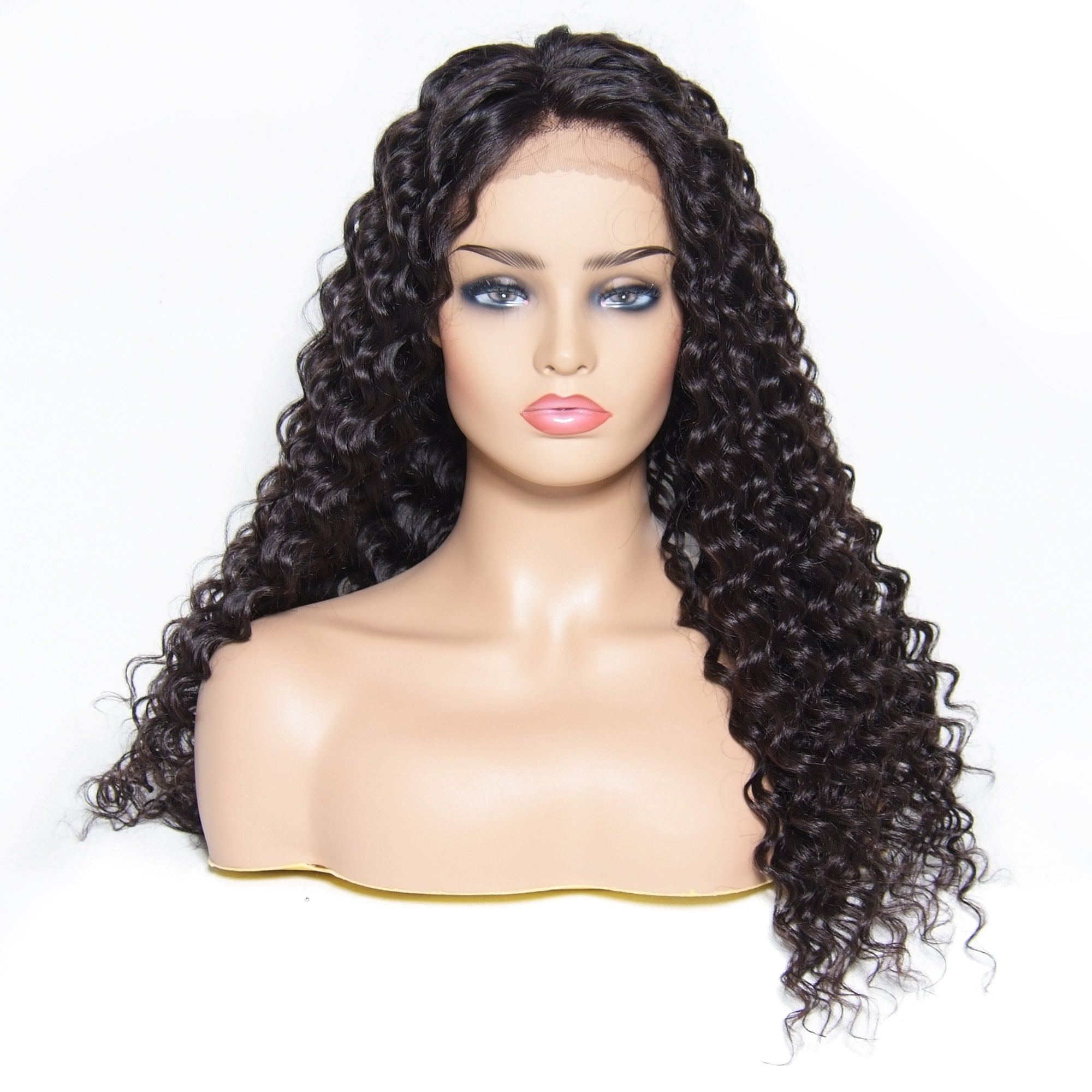Msbeauty 180% Density Lace Front Deep Wave 2019 Trendy Human Hair Wig For Woman - MSBEAUTY HAIR