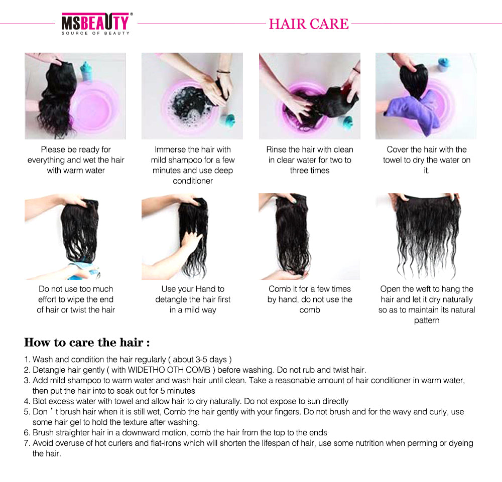 "Msbeauty Best Quality Indian Raw Remy Hair Bundles 4Pcs/Pack 8""-30"" Free Shipping - MSBEAUTY HAIR"