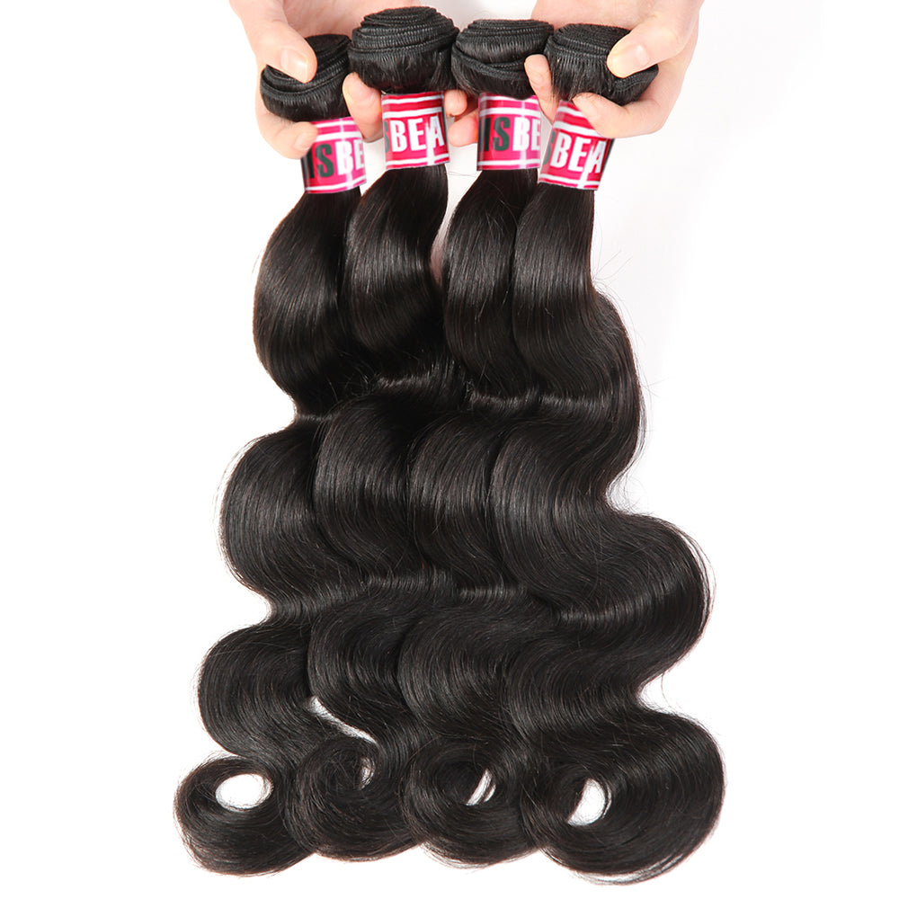Msbeauty Body Wave 4 Bundles Sale Malaysian Unprocess Human Hair Weave Free Shipping - MSBEAUTY HAIR