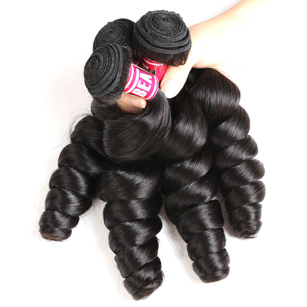 "Msbeauty Loose Wave 4Pcs/Lot Sales 8""-30"" Long Wavy Malaysian Human Hair Extension - MSBEAUTY HAIR"