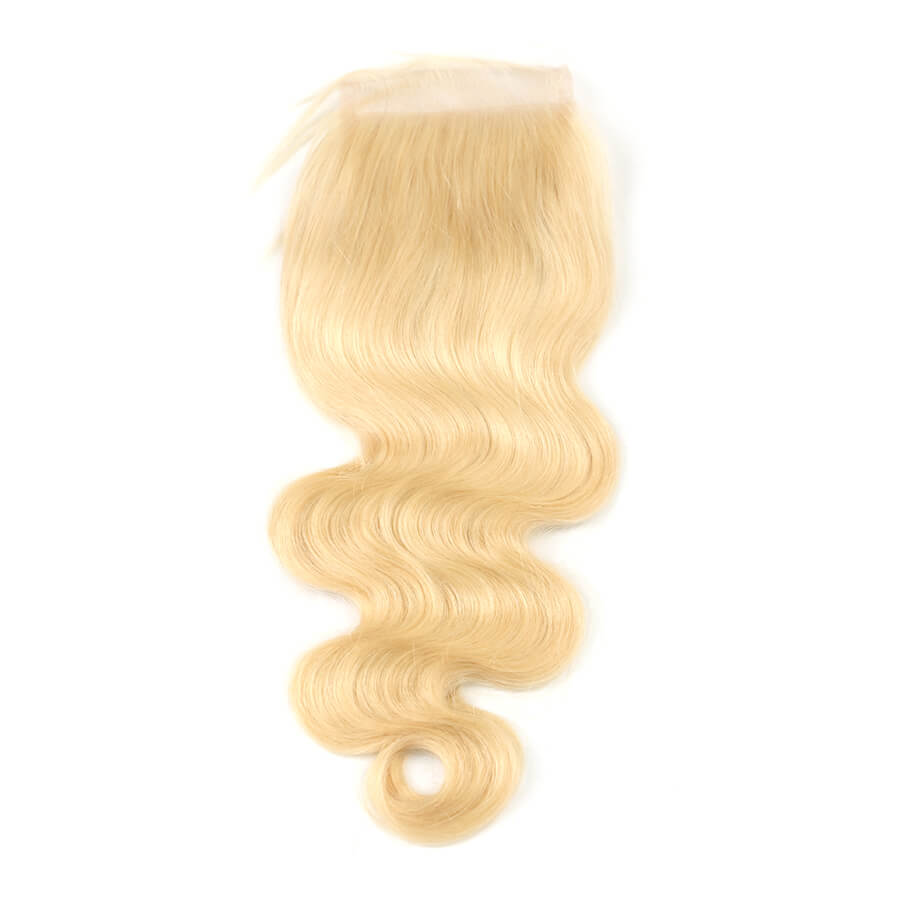 Msbeauty Brazilian Body Wave Unprocessed Blonde Human Hair 3 Bundles With Lace Closure - MSBEAUTY HAIR