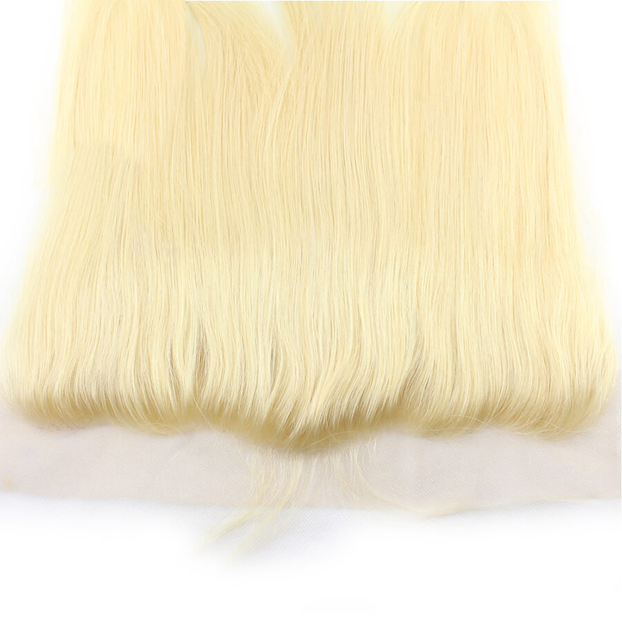 Msbeauty Straight 10A Blonde Human Hair Bundles 3 Pcs With Lace Frontal Closyre Straight Hair Weave - MSBEAUTY HAIR