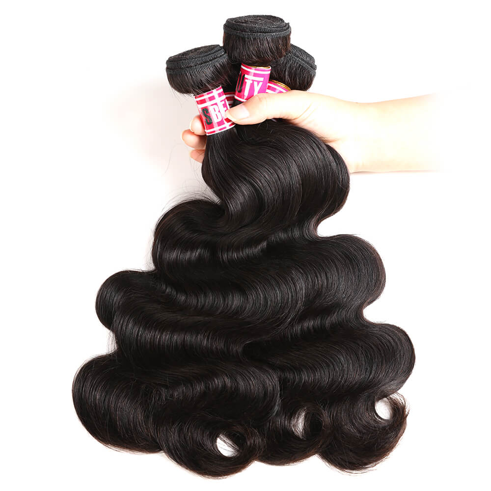 Msbeauty Body Wave Brazilian Remy Hair 3 Pcs With 13x4 Pre Plucked 8A Lace Frontal Closure - MSBEAUTY HAIR