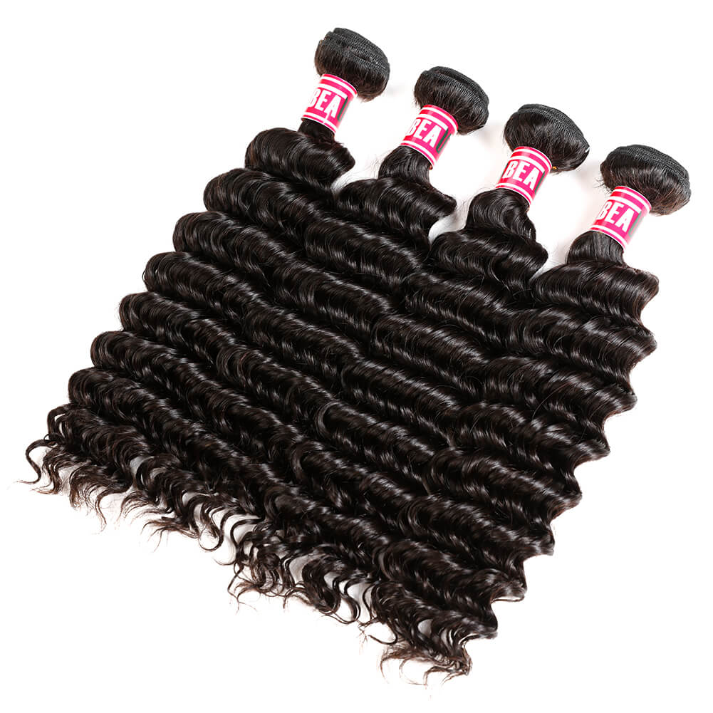 Msbeauty Deep Wave 4 Pcs/Pack Human Malaysian Human Hair Curly Hair For Sale - MSBEAUTY HAIR