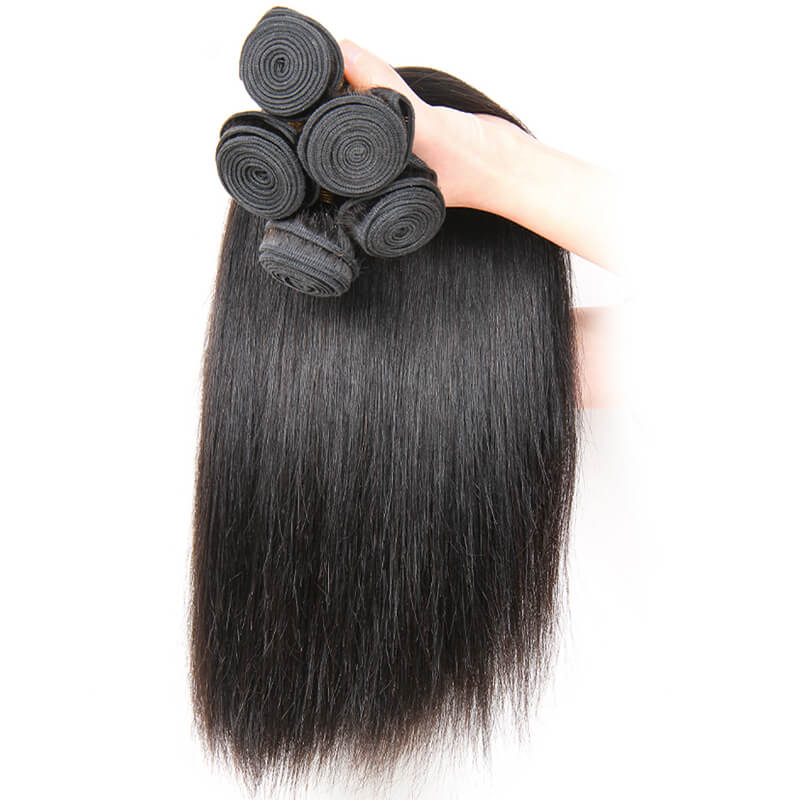 Msbeauty Virgin 8A Quality Straight Brazilian Real Human Hair Double Weft Hair Bundle - MSBEAUTY HAIR