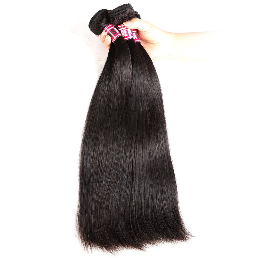 "Msbeauty Peruvian Straight Human Hair 4Pcs/ Pack Bundles Deal 8""-30"" Long Unprocessed Virgin Hair - MSBEAUTY HAIR"
