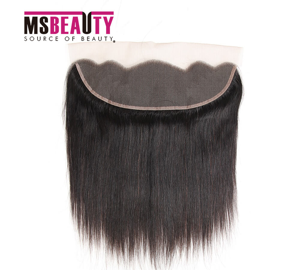Msbeauty Hair Brazilian Virgin Remy Human Hair 13*4 Straight Frontal Closure - MSBEAUTY HAIR