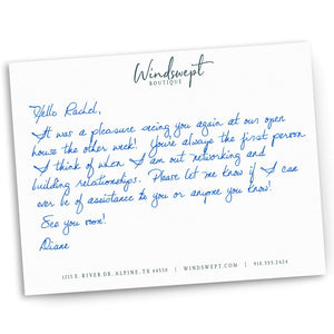 Handwritten Note