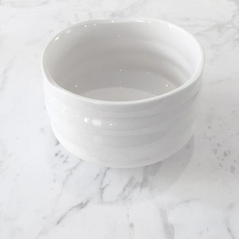 """white izuna"" series traditional chawan bowl"