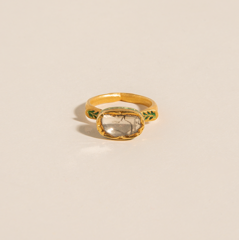 Syed Diamond Signet Ring