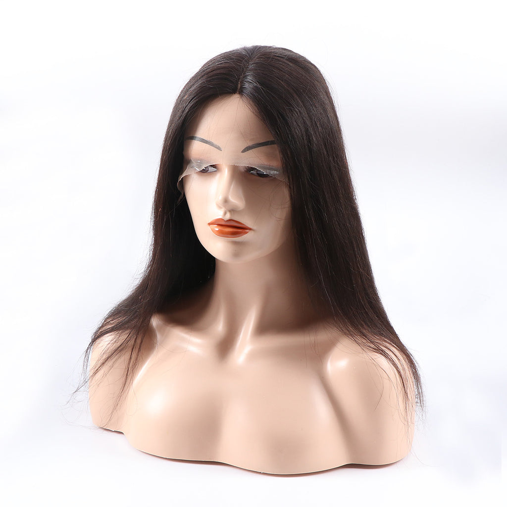 RoseHair Super Fashion Lace Closure Machine Made Wig Real Human Brazilian Virgin Hair Wig - Rose Hair