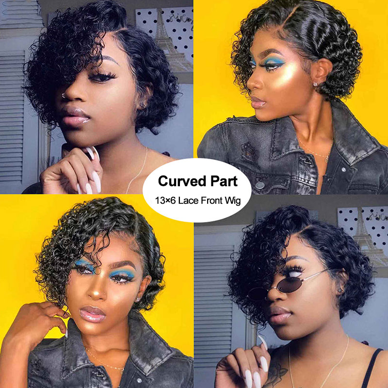 Curved Part 13*6 Lace Front Wig 100% Human Hair Wig New Arrival Wigs - Rose Hair