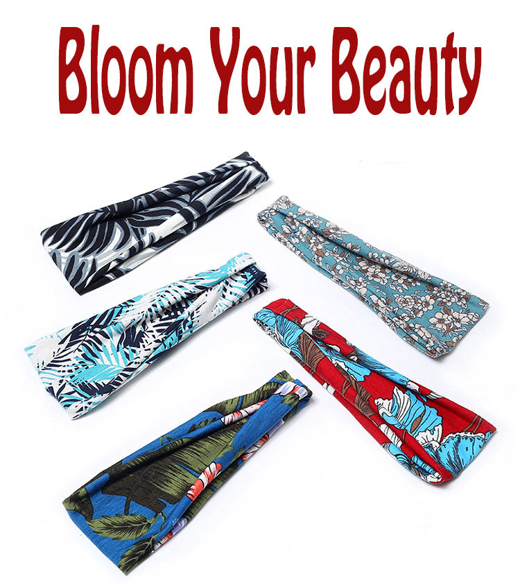 6 Pack Women's Yoga Running Headbands Sports Workout Hair Bands Different Style - Rose Hair