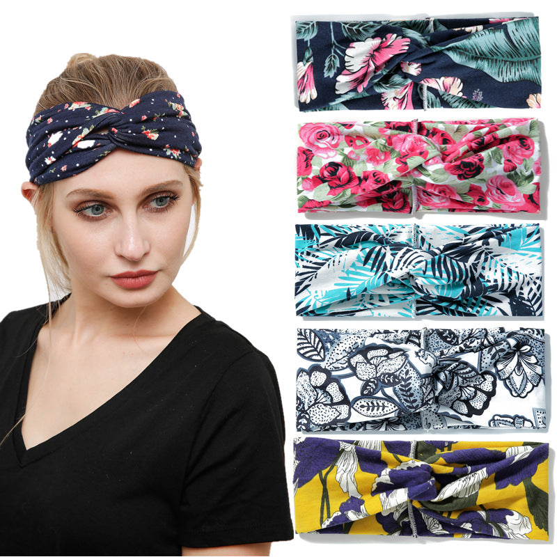 6 Pack Women's Yoga Running Headbands Sports Workout Hair Bands - Rose Hair
