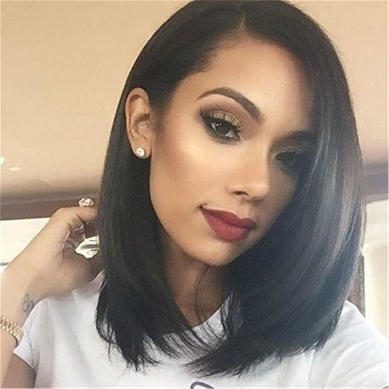 Deep Side Part Bob Wig 13x6 Lace Frontal Wig - Rose Hair