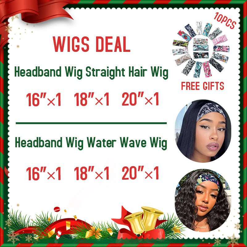 Wholesale Rosehair 15A Grade 3/6 PCS Headband Wig Glueless Human Hair Wig With Pre-attached Scarf Half All Texture Deal - Rose Hair