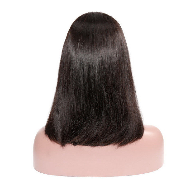 RoseHair Best Brazilian Human Hair 4x4 Lace Closure Silky Blunt Cut Bob Wig All Texture - Rose Hair