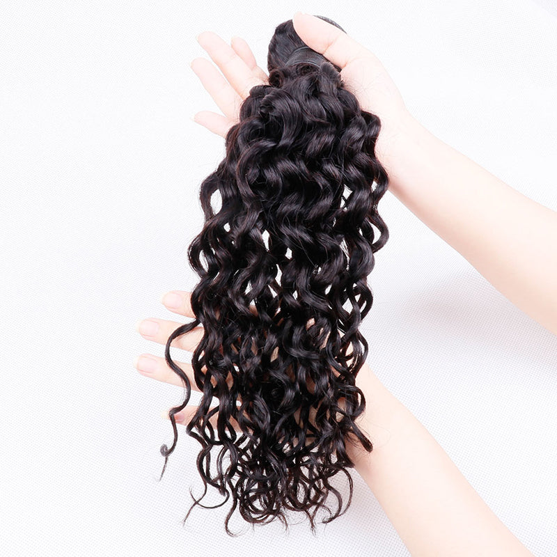 10A Grade Pre Plucked 13x4 Lace Frontal with 3 Bundles Best Brazilian Virgin Hair Weave Ear to Ear Frontal Water Wave - Rose Hair