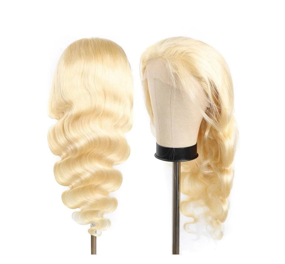 Blonde #613 Human Hair Body Wave 13*4 Frontal Lace Wig - Rose Hair
