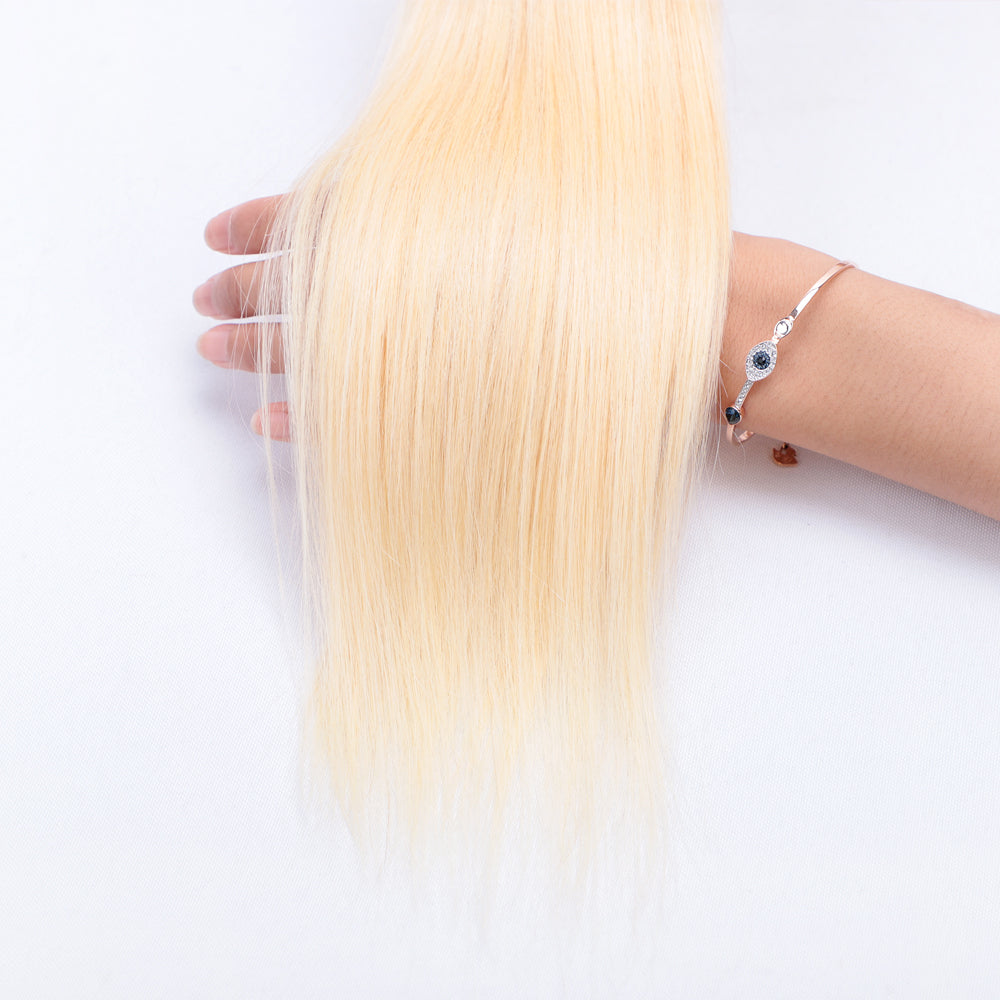 10A Grade 1PC Straight #613 Color Blonde Hair Best Brazilian Virgin Hair Bundles - Rose Hair